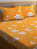 #3: Cortina 104 TC Cotton Double Bedsheet with 2 Pillow Covers  - Multicolour