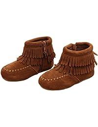 8644fb0a1 Free Fisher Bebé Niñas Botas de Flecos de Moda Zapatos Cargadores Cómodo  Botín ...