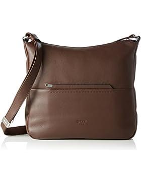 BREE Damen Faro 3, Dark Brown, Cross Shoulder L Umhängetasche, Braun (Dark Brown), 30x12x37 cm
