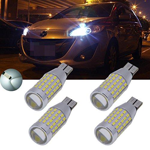 TUINCYN Super Bright T15 ampoule LED Blanc Voiture sauvegarde inversée lumière 3014 87smd Xenon Blanc 921 912 Sauvegarder Lampes de rechange 12 V-24 V (lot de 4)