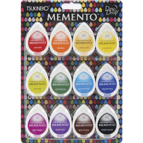 Memento Dew Drop Dye Ink Pads 12/Pkg-Gum Drops -