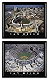 San Diego Padres baseball Petco Park and Qualcom Stadium Final Season (1969-2003). Set of 2 by BlowOutBarn