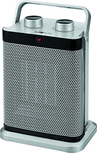 Clatronic HL 3631 Keramik-Heizlüfter, 7-Stufen-Schalter, stufenlos regelbarer Thermostat, 1000/1500 W
