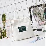 Jinsun Work Shoulder Bags White Korean Version Retro Small Bag Diagonal Canvas Bucket Small Bag Portable Cloth Bag