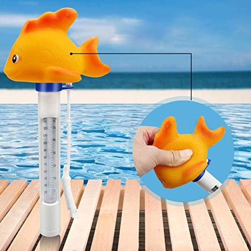 XdremYU Tragbares Karikatur Thermometer Goldfisch Swimmingpool Whirlpool Badekurort Teich Schwimmen
