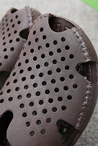 W&XY Les pantoufles de salle de bains des hommes dété qui fuient des pantoufles de trou dorteil dintérieur danti-dérapant 43