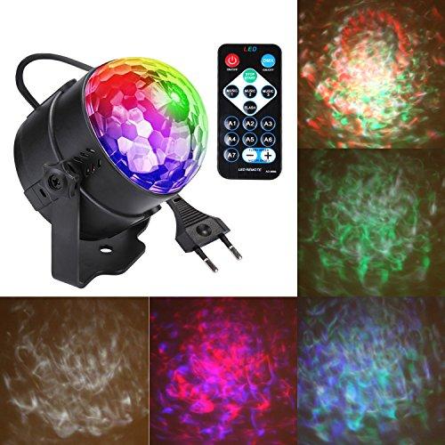 Discokugel LED Partylicht Discolichter Partylichter Discolicht 3W Musik RGB Disco Lichteffekte Party Lampe Beleuchtung Lichter für Halloween Weihnachten Xmas Party Zubehör Geburtstag Deko Dekoration Licht (Type-1)