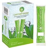 Cannafreeze - Wassereis mit natürlichem Hanfaroma zum einfrieren - 10x Cannafreeze Eis (10x40ml) - Hanf Vegan - wenig Kalorien
