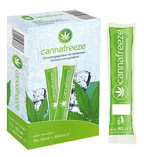 Preisvergleich Produktbild Cannafreeze - Wassereis mit natürlichem Hanfaroma zum einfrieren - 10x Cannafreeze Eis (10x40ml) - Hanf Vegan - wenig Kalorien