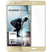 doupi - 3D FullCover Protector de pantalla de vidrio templado de 9H, alta definición para Huawei P8 Lite ( 2017 ), dorado