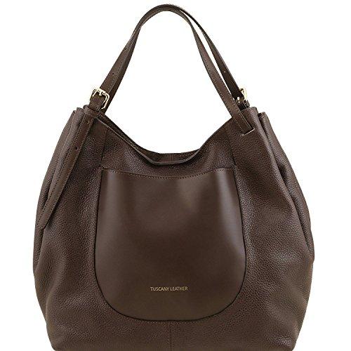Tuscany Leather Cinzia - Borsa shopping in pelle morbida - TL141515 (Testa di Moro)
