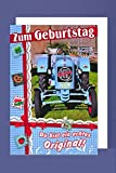 Traktor Geburtstag Karte Grußkarte Landwirt Bauer Oldtimer 16x11cm