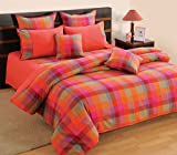Swayam Linea Gold Cotton Bedsheet with 2...