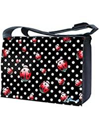 Luxburg Design sac bandoulière pour ordinateur portable 17Avec Sangle d'épaule–pois et coccinelles