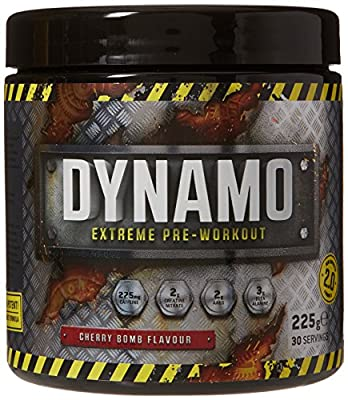 Protein Dynamix Dynamo Extreme Pre-Workout Formula Cherry Bomb Flavour Powder, 225 g from Protein Dynamix