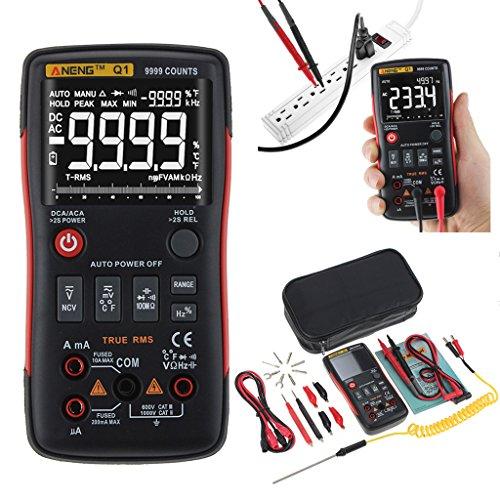 elfachmessgerät, 9999Zählen AC/DC Spannung/Strom Widerstand Temperatur Diode Kontinuität Werkzeug, Elektronische Test Meter/Messgerät ()