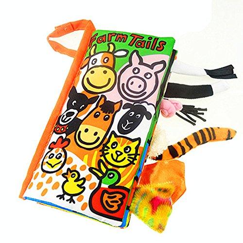 Kangrunmys Animal Queues Tissu Doux Livre pour Bébés...