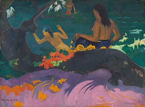 Berkin Arts Paul Gauguin Giclee Kunstdruckpapier Kunstdruck Kunstwerke Gemälde Reproduktion Poster Drucken(Fatata Te Miti am Meer)