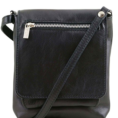 Tuscany Leather - Sasha - Sac mixte en cuir souple - Noir