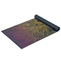 "Gaiam Yoga Mat - Classic 4mm Print Exercise & Fitness Mat for All Types of Yoga, Pilates & Floor Exercises (68"" x 24"" x 4mm Thick) 4mm"