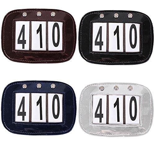 netproshop Nummernhalter Startnummernhalter Für Turnier 3- oder 4-stellig Auswahl, Farbe:Schwarz, Groesse:Typ A -