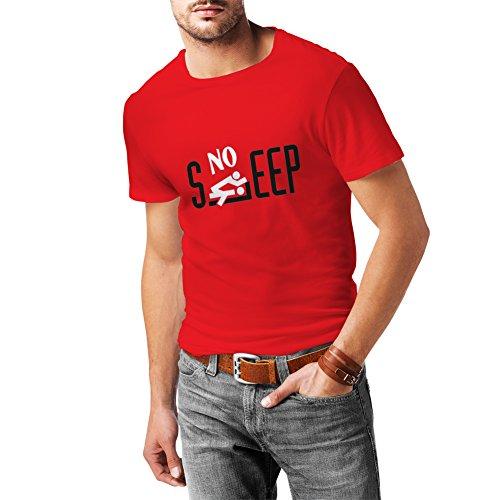 N4131 No sleep Herren Humorvoll vorliegenden t shirt lustiges Geschenk T-Shirt Rot T-shirt/Schwarz Bild