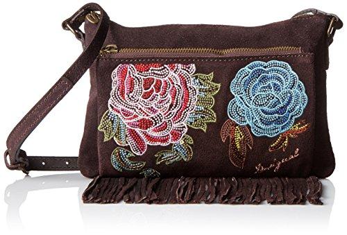 Desigual - borsa da donna a fiori con tracolla toulouse antedots marrone
