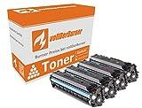 vollDerBurner XXL 4x Toner für HP 410X CF410X, CF411X, CF412X, CF413X 410A Color Laserjet Pro M377 M452 M470 M477