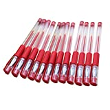 NUOLUX 12pcs Gel inchiostro Roller Ball penne 0,5 mm pinna punto Rollerball Pen per ufficio scuola studenti cancelleria (Rosso)