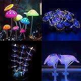 Podazz leuchtende Aquariumdeko Koralle Pflanze Ornament Leuchteffekt Silikon künstliche Dekoration für Aquarium Landschaft