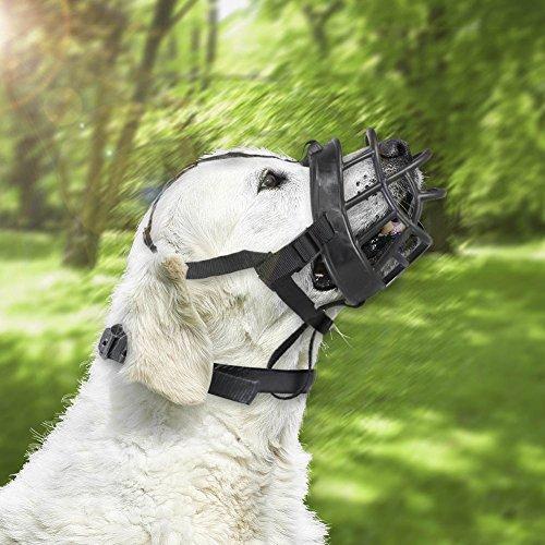 ZREAL Boca de perro de mascota bozales de silicona suave perros transpirables ajustables contra la mordedura de la corteza Masticar bozal máscara de entrenamiento accesorios para mascotas