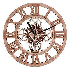 Idea Regalo - Giftgarden Orologio da Parete Ingranaggio Design in Legno