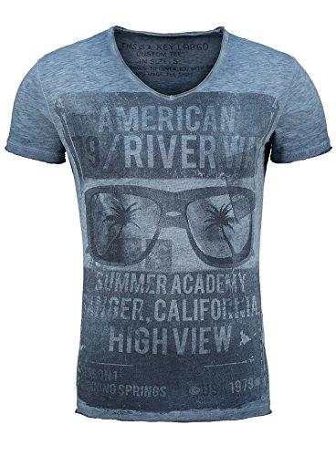 key-largo-t-shirt-t-river-way-grun-v-ausschnitt-vintage-printshirt-dunkelblau-m