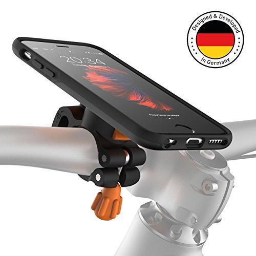 MORPHEUS LABS M4s BikeKit Bike Kit - Fahrradhalterung iPhone 6 / 6s - Handyhalterung Fahrrad iPhone 6 / 6s & iPhone 6s Hülle iPhone 6 US-Mil.Standard DropTest, patentierter Magnetverschluss Schwarz