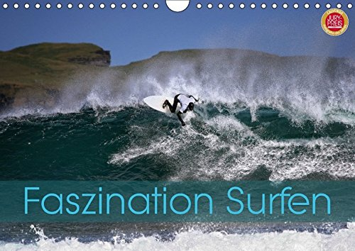 Faszination Surfen (Wandkalender 2018 DIN A4 quer): Faszination Surfen, eingefangen in atemberaubenden Bildern (Monatskalender, 14 Seiten) (CALVENDO Hobbys) [Kalender] [Apr 01, 2017] Cross, Martina