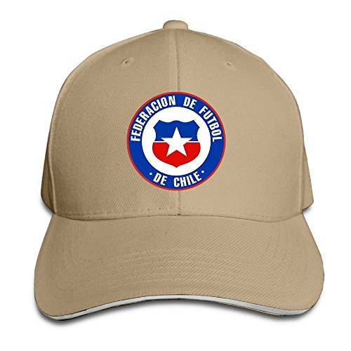 Hittings Chile Football Team Sandwich Peaked Hat/Cap Natural