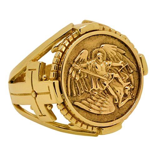 saint-st-michele-arcangelo-realizzato-a-mano-in-oro-massiccio-10-k-anello-da-uomo-biker-28-cod-gg-01