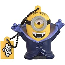 Tribe Los Minions Despicable Me Gone Batty - Memoria USB 2.0 de 8 GB Pendrive Flash Drive de goma con llavero, multicolor