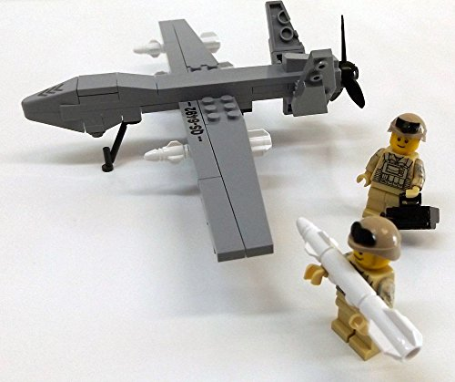 Modbrix 2147- ★ US AIR FORCE Drohne MQ-9 Reaper inkl. custom US ARMY Special Forces Soldaten aus original Lego© Teilen ★ thumbnail