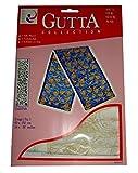 ARTY'S Gutta Collection - Seidenschal Motiv: Gold Fish - Pongé 05, ca. 40x150cm, rollierte Ränder (Gutta Gold)