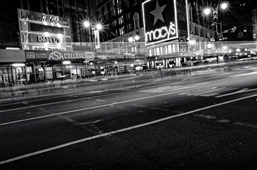 New York Macy´s bei Nacht Fotografie 30 x 40 cm