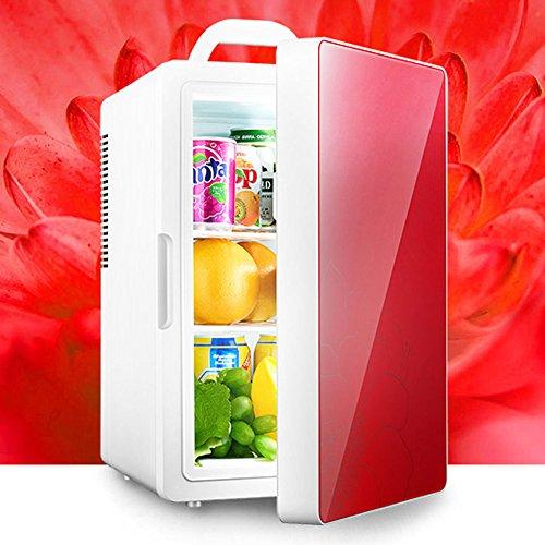 Réfrigérateur De Voiture De 16L Double Usage De Voiture Et De Maison Mini Refroidissement Et Chauffage Silencieux De 12 / 220V économie D'énergie,Red-Dual-Core