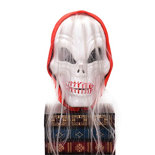 (Halloween Horror Party Schädel Kopf LED blinkende Maske Kostüm Party Horror Zombie rote Turban Ghost Maske mit RGB Licht für Parodie (1PCS) light bulb Night light)