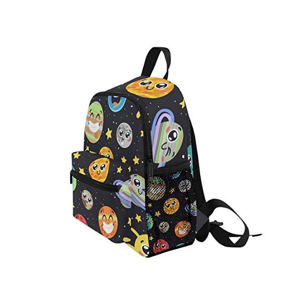 51xA8F3w7RL. SS600  - CPYang Mochila para niños con sistema solar Planet Emoji School Bag Kindergarten Preescolar Mochila para niños y niñas