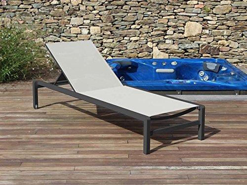 Residence - Bain De Soleil Capri Anthracite (lot) - Lot - Lot De 4