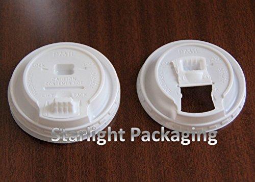 100Dome SIP Thro Deckel für Arbeitshemd Polystyrol Tassen