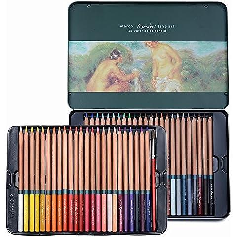 newdoer marco Renoir 48Colore acuarela lápices con lápiz lata caja lápices Set