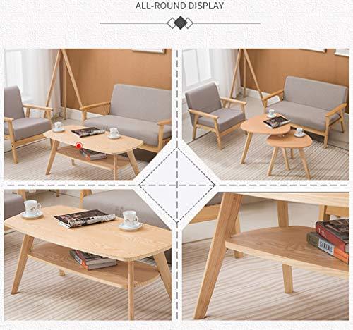 Anuey Tavolino da Salotto Semplice tavolino da Salotto Tavolo da Pranzo  Moderno tavolino da Salotto con Tavolo da Pranzo,Wood Color,B