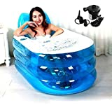 Opar New Foldable Durable Adult SPA Inflatable Bath Tub with Electric Air Pump