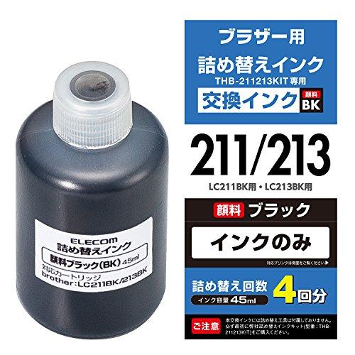 ELECOM Refill Tinte für Brother lc211bk & lc213bk Schwarz 4Mal nachfüllbar thb-211213bk4(Japan Import) (Toner-refill-werkzeug)